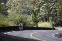 Cyclist on the road Hawaii Bike Tour