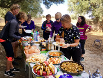 serving lunch during Morocco Bike Tour