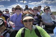 cyclist on boat tour Florida Everglades and the Keys Bike Tour