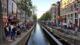 City life in Holland during Holland Bike and Barge Meandering the Meuse Bike Tour