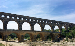 Aqueduct seen during France Bike Tour