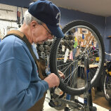 fixing bike wheel R Community Bikes
