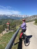 Cyclist and Bird House Albania Bike Tour