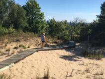 Hiking dunes Wisconsin Door County Bike Tour