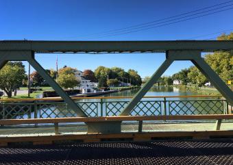 View from bridge Erie Canal Bike Tour