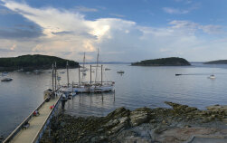 Dock Maine Acadia National Park Bike Tour